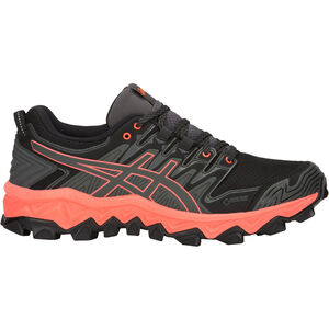 asics Gel-FujiTrabuco 7 G-TX Shoes Dam dark grey/flash coral dark grey/flash coral