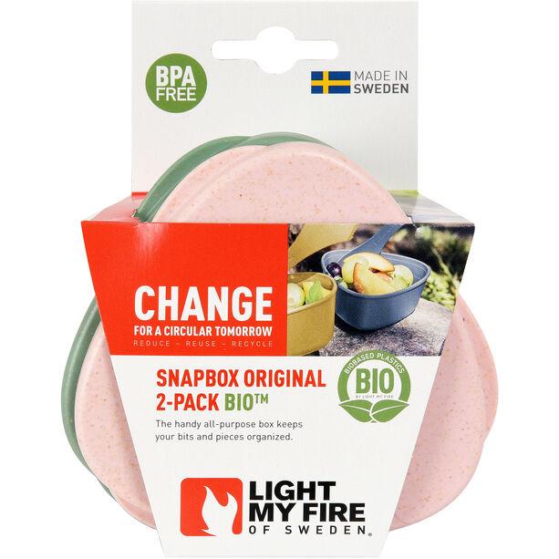 Light My Fire SnapBox Original BIO 2-Pack sandygreen/dustypink