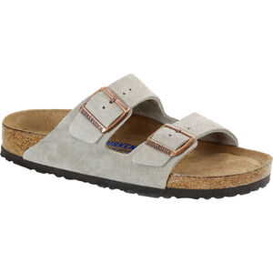 Birkenstock Arizona Soft Footbed Sandals Suede Leather taupe taupe