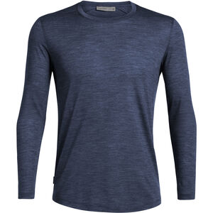 Icebreaker Sphere LS Crewe Shirt Herr midnight navy heather midnight navy heather