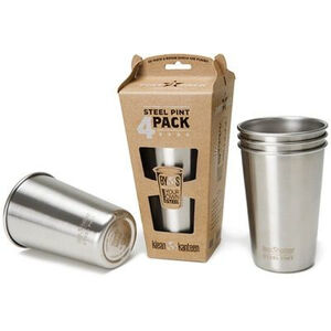 Klean Kanteen Pint Cup 16oz 4-pack (473 ml) stainless (borstad finish) stainless (borstad finish)