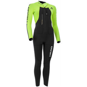 Head SwimRun Rough Suit Dam black/flourocent lime black/flourocent lime