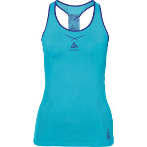 Odlo Ceramicool Seamless Singlet Crew Neck Dam blue radiance-spectrum blue blue radiance-spectrum blue