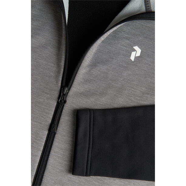 Peak Performance Rider Mel Zip Hood Jacket Herr Grey Melange