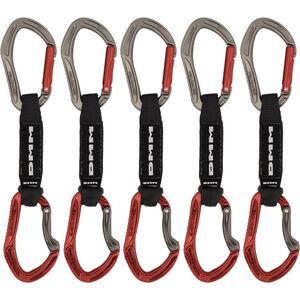 DMM Alpha Sport QD Carabiner 12cm/5 Pack titanium/red titanium/red