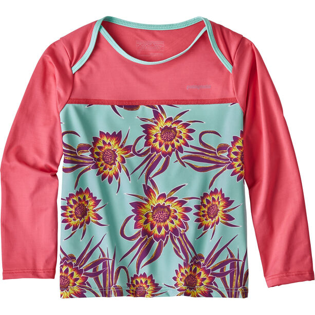 Patagonia Little Sol Rashguard Barn cereus flower small: ikat purple