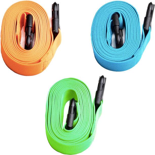 Swimrunners Guidance Cord Pull Belt 3 pack 2m neon green/blue/orange