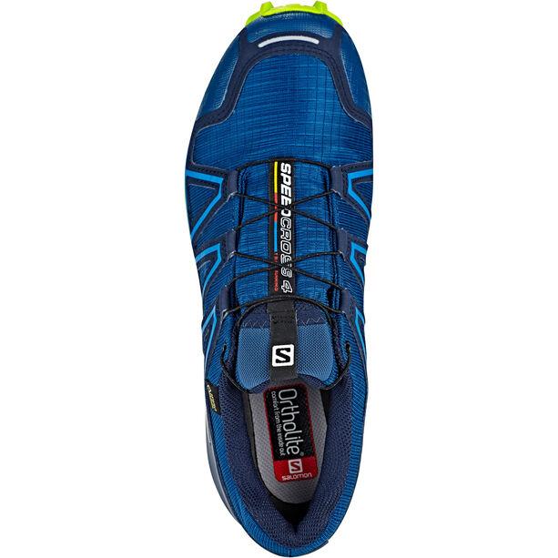 Salomon Speedcross 4 GTX Shoes Herr poseidon/navy blazer/lime green