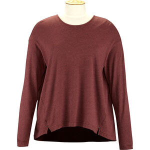 Alchemy Equipment Long Sleeve Pleated Relaxed Top Dam wine wine
