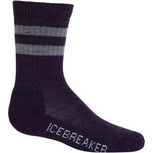 Icebreaker Hike Light Crew Socks Barn burgundy hthr/silk hthr burgundy hthr/silk hthr