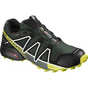 Salomon Speedcross 4 GTX Shoes Herr darkest spruce/black/acid lime darkest spruce/black/acid lime