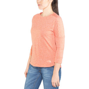 The North Face Inlux 3/4 Sleeve Top Dam fire brick red heather fire brick red heather