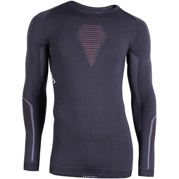UYN Visyon UW LS Shirt Herr charcoal/red/white