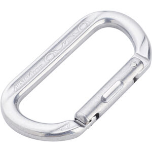 AustriAlpin Ovalock Snapgate Carabiner for safer belaying polished polished