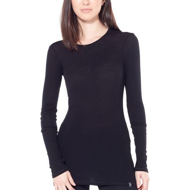 Icebreaker Luxe Rib LS Crewe Shirt Dam black