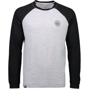 Mons Royale Icon Raglan LS Herr black/grey marl black/grey marl