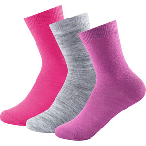 Devold Daily Light Socks 3 Pack Barn pink mix pink mix