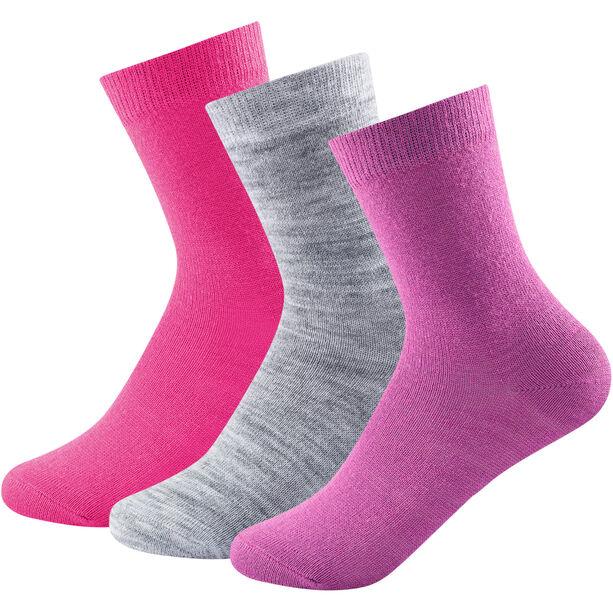 Devold Daily Light Socks 3 Pack Barn pink mix