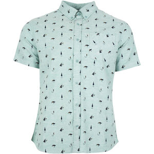 United By Blue Norde Stretch SS Button Down Herr sea green-hooked sea green-hooked