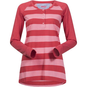 Bergans Ryvingen Long Sleeve Dam pale coral/pale red striped pale coral/pale red striped