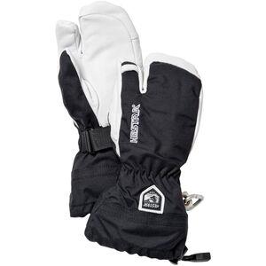 Hestra Army Leather Heli Ski Gloves 3-Finger Barn svart svart