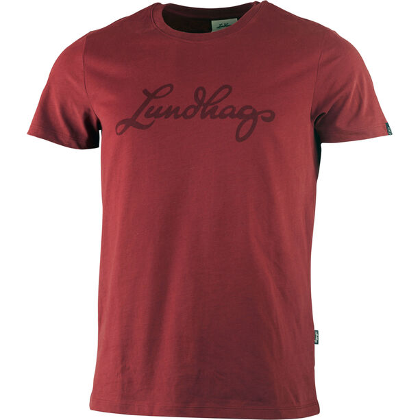 Lundhags Tee Herr dark red
