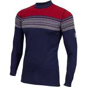 Aclima DesignWool Marius Crew Neck Shirt Herr Patriot Blue/Nature/Tango Red Patriot Blue/Nature/Tango Red