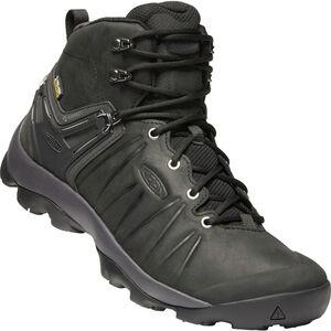 Keen Venture WP Mid Leather Shoes Herr Black/Magnet Black/Magnet