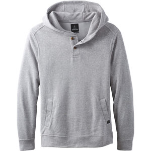 Prana Norcross Crew Fleece Pullover Herr heather grey heather grey