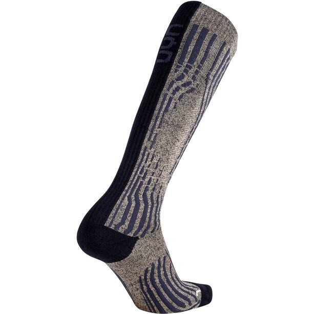 UYN Shiny Cashmere Ski Socks Dam celebrity gold