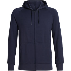 Icebreaker Helliers LS Zip Hood Herr Midnight Navy Midnight Navy