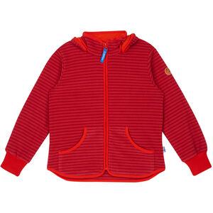 Finkid Tonttu Striped Fleece Jacket Barn cranberry/grenadine cranberry/grenadine