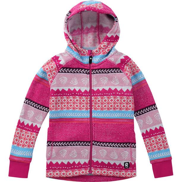 Reima Northern Fleece Sweater Barn raspberry pink