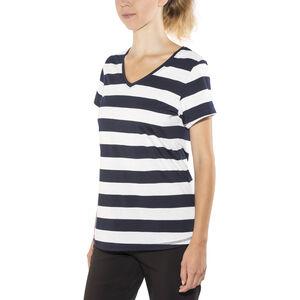 Bergans Bastøy Tee Dam white/navy striped white/navy striped
