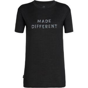 Icebreaker Tech Lite Made Different SS Crewe Shirt Dam black black