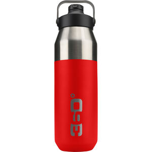 360° degrees Wide Mouth Insulated Drink Bottle with Sipper Cap 1000ml red red