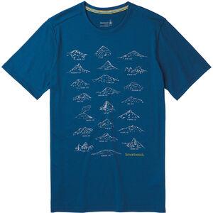 Smartwool Merino Sport 150 Prominent Peaks Tee Herr alpine blue alpine blue