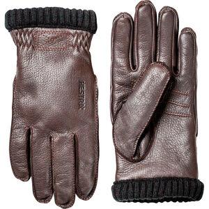 Hestra Deerskin Primaloft Rib Gloves Herr mörkbrun mörkbrun