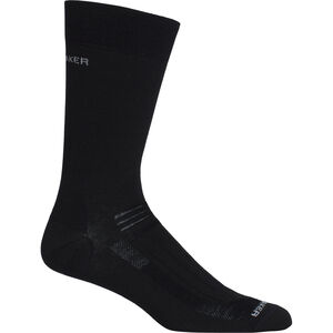 Icebreaker Hike Ultra Light Liner Crew Socks Herr black black