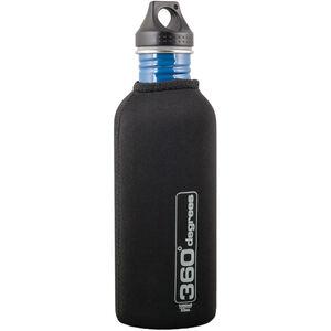 360° degrees Neoprene Pouch for Stainless Drink Bottle 1000ml black black