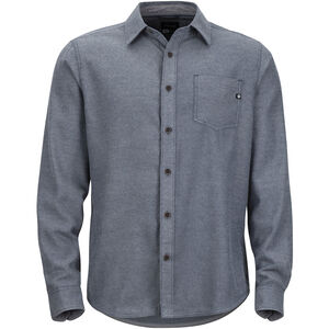 Marmot Hobson Midweight Flannel LS Shirt Herr dark indigo heather dark indigo heather