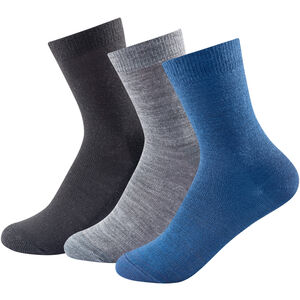 Devold Daily Light Socks 3 Pack Barn blue mix blue mix