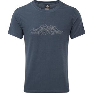 Mountain Equipment Groundup Mountain Tee Herr denim blue denim blue