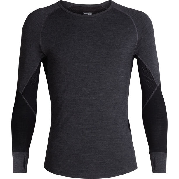 Icebreaker 260 Zone LS Crewe Shirt Herr jet heather/black