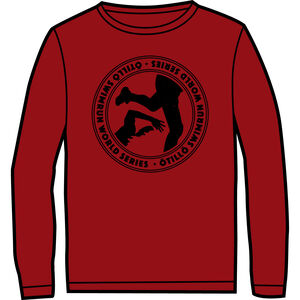 ÖTILLÖ Crew LS Shirt Herr burgundy burgundy