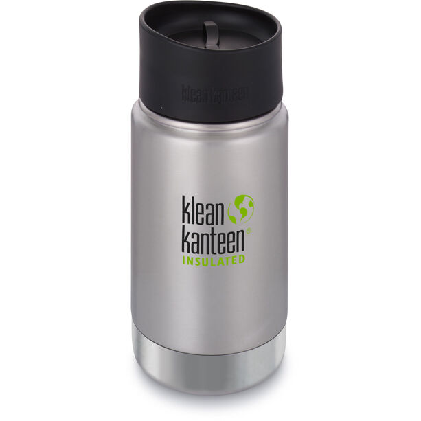 Klean Kanteen Wide Vacuum Insulated Bottle Café Cap 2.0 355ml brushed stainless