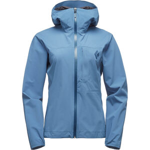Black Diamond Fineline Stretch Rain Shell Jacket Dam blue steel blue steel