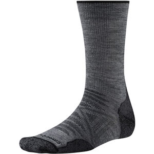 Smartwool PhD Outdoor Light Crew Socks Herr med grey med grey