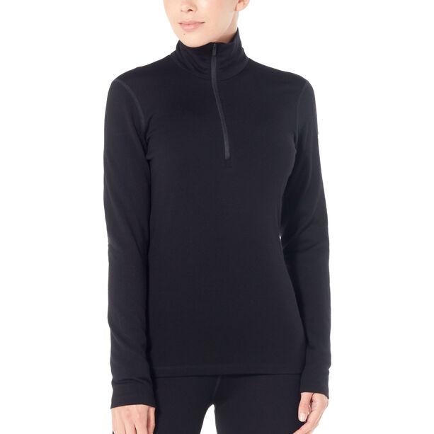 Icebreaker 260 Tech LS Half Zip Shirt Dam black