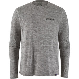 Patagonia Cap Cool Daily Graphic LS Shirt Herr p-6 logo/feather grey p-6 logo/feather grey